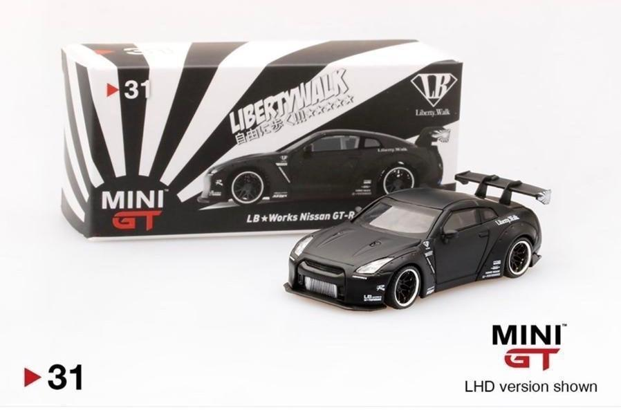 MINI GT LIBERTY WALK LB WORKS NISMO NISSAN SKYLINE GT-R R35 1//64 MATTE GREY